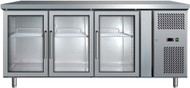 Bromic - UBC1795GD - 3 Glass Door 417L Underbench Chiller. Weekly Rental $37.00