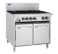 LUUS - CRO-6B - GAS SIX BURNER WITH OVEN. Weekly Rental $57.00