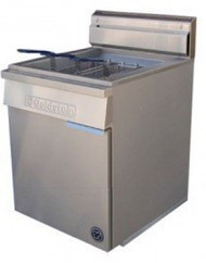 GOLDSTEIN - FRG-24L - FLAT BOTTOM GAS FRYER. Weekly Rental $57.00