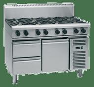 Waldorf 800 Series RN8800G-RB - 1200mm Gas Cooktop Refrigerated Base. Weekly Rental $132.00