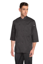 Black 3/4 Sleeve Chef Jacket