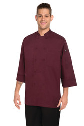 Merlot 3/4 Sleeve Chef Jacket