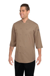 Khaki 3/4 Sleeve Chef Jacket