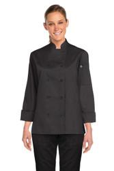 Marbella Womens Black Chef Jacket