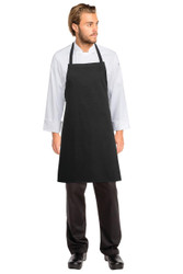 Bib Apron No Pocket - Black