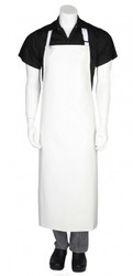 PVC Long Apron - White