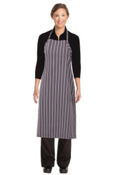 Chalkstripe Adjustable Apron- Grey