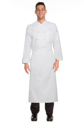 Continental Apron with No Pockets - White