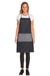 Manhattan Denim Black Cross Back Apron