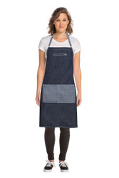 Manhattan  Blue Denim Cross Back Apron