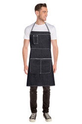 Bronx Cross Back Apron - Black
