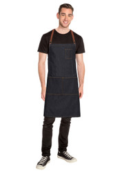 Memphis Cross Back Apron - Black