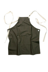 Byron Canvas Cross Back Apron - Khaki