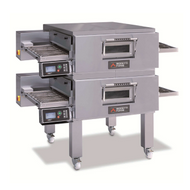 MORETTI FORNI SERIE T DOUBLE GAS - T75G/2 - Double Deck Gas Conveyor Oven. Weekly Rental $526.00