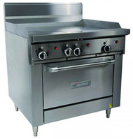 GARLAND GFE36-G36C Restaurant Series Gas 900mm Griddle Convection Oven Electronic Ignition. Weekly Rental $110.00