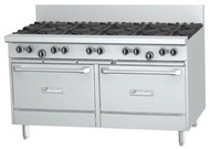 GARLAND GF60-10RR Restaurant Series Gas 10 Open Top Burners 2 Standard Ovens. Weekly Rental $132.00