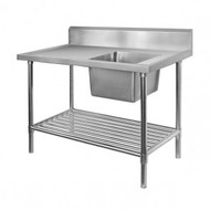 SSB6-1200R/A Single Right Sink Bench with Pot Undershelf. Weekly Rental $7.00