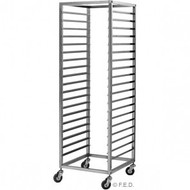 GTS-180 ADJUSTABLE S-STEEL GASTRONORM RACK TROLLEY