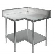 0900-7-WBCB - Economic Corner Workbench,100mm Splashback & Undershelf 900x900x900mm
