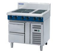 "Blue Seal Evolution Series E516D-RB - 900mm Electric Cooktop "" Refrigerated Base. Weekly Rental $128.00"