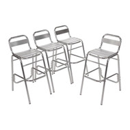 U503 - Aluminium Bar Stools (Pack of 4)