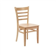 CD184-PL - Slatted Side Chairs Natural Beech (Pack of 2)