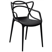 GH442 - Spaghetti Style Armchairs Black (Pack of 4)
