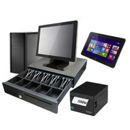 "Mantas Intel Dual Core Turnkey POS Split System with 15"" Resistive Touchscreen and 8.1"" Tablet - IDC15-TAB08. Weekly Rental $58.00"