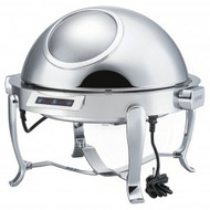 KGM6803G - Electric Round Chafing Dish with Chrome Legs. Weekly Rental $14.00