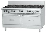GARLAND GF60-6G24RR 6 Open Top Burners, 600mm Griddle, 2 Standard Ovens. Weekly Rental $132.00