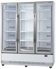 SKOPE BME1500-A Active Core 3 Glass Door Display Refrigerator. Weekly Rental $64.00