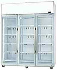 SKOPE TME1500-A  ActiveCore 3 Door White Display Fridge. Weekly Rental $62.00