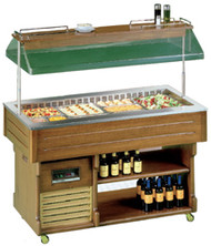 TECFRIGO ISOLA-4M Walnut Mobile Salad Bar. Weekly Rental $72.00