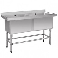 Stainless Steel Double Deep Pot Sink 1410-6-DSB. Weekly Rental $11.00