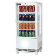 Bromic CT0080G4WC Countertop Beverage Chiller Curved Glass White - 80 Litre. Weekly Rental $10.00