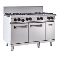 Luus RS-6B3C 1200mm Oven with 6 Burners & 300mm Chargrill Professional Series. Weekly Rental $74.00