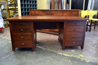 Partners desk, Jarrah