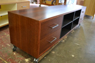 Hifi Cabinet, 4 column, Redgum with Black interior