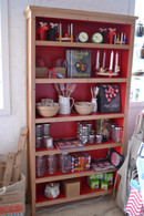 Bookcase, Standard, Ash with Red Interior