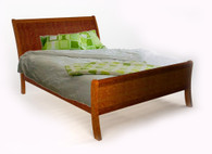 Sleigh Bed with foot, Redgum