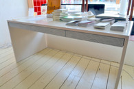 Desk , Two pack white finish with 3 drawers