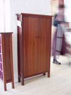 8x6 Cd cabinet, Jarrah and Clear, Traditional with veneer panel doors