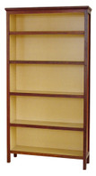 Bookcase, Standard, Jarrah and Clear