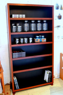 Bookcase, Jarrah and Black, Barbi