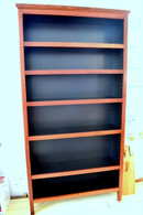 Bookcase, Standard, Jarrah and Black, Traditional