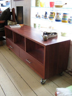 Jarrah three column cabinet