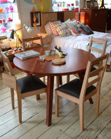 Circle dining table, Redgum