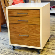 Drawer cube, White with US Oak drawers