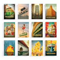 HARPER & CHARLIE postcard pack of 12