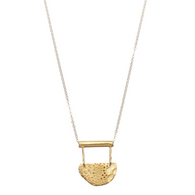 SHABANA J gold necklace aztec small